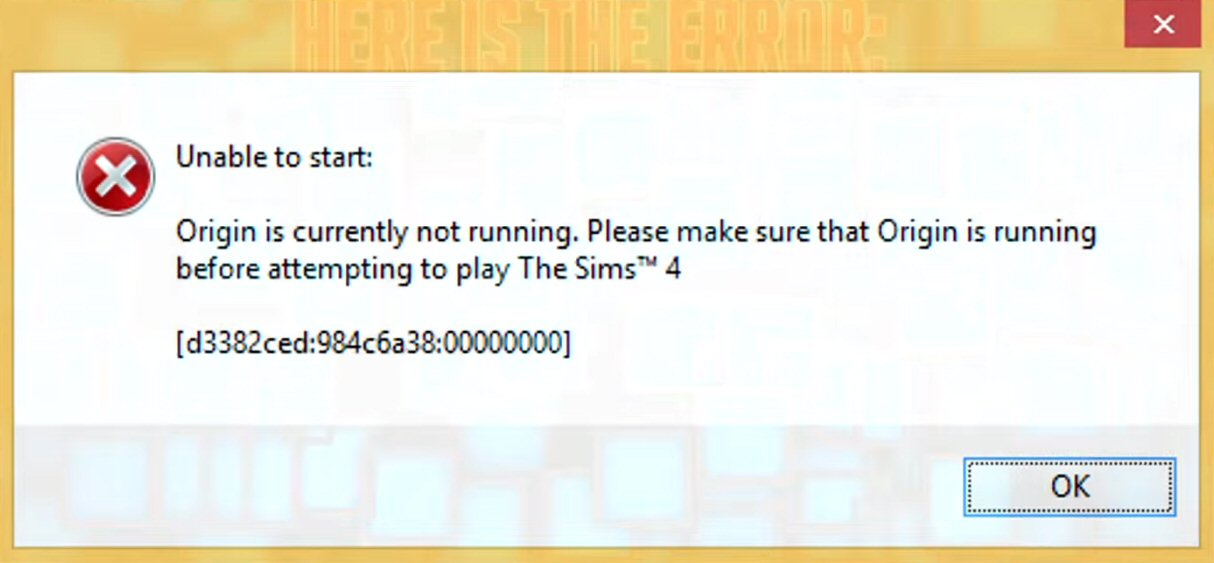 Sims 4 Problem Solved: Origin is Currently Not Running